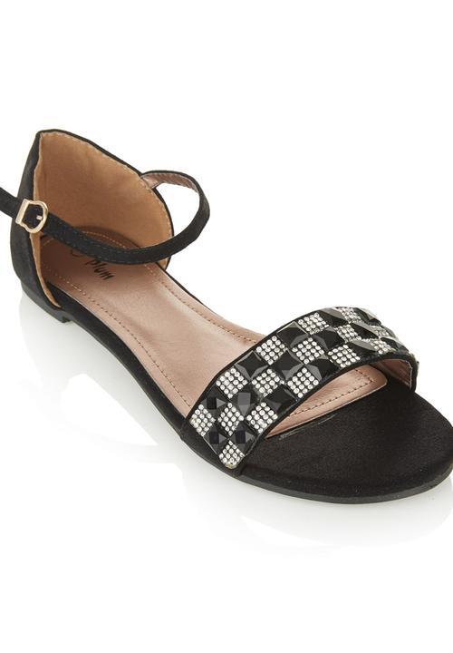 397fc43bd1c Checkered Sandals Black Plum Sandals   Flip Flops