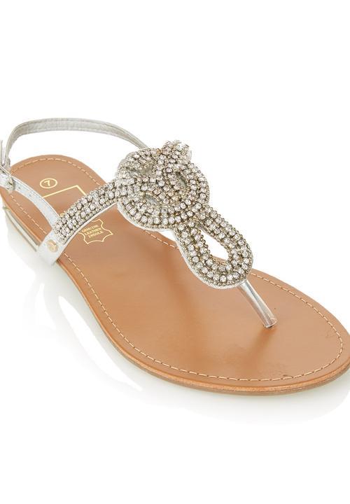065bf4f9c Diamanté Sandals Silver Dolce Vita Sandals   Flip Flops ...