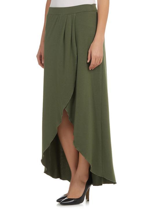 3cd520a556bf Khaki Wrap Maxi Skirt Dark Green edit Skirts   Superbalist.com