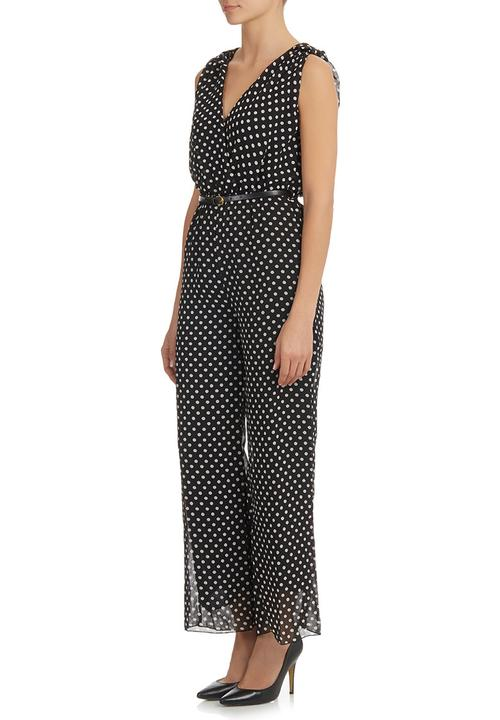 Polka Dot Jumpsuit Blackwhite Shes Cool Jumpsuits Playsuits