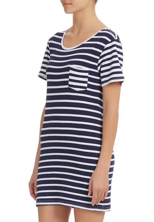 e578a86861c Boyfriend T-Shirt Dress Blue White (stripe) All About Eve Casual ...