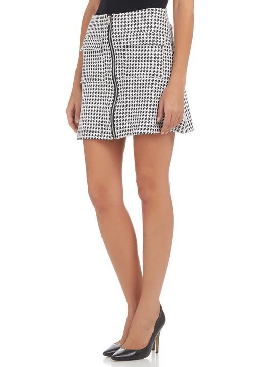 128ede451 A-line Mini Skirt Black/White Black and White c(inch) Skirts ...