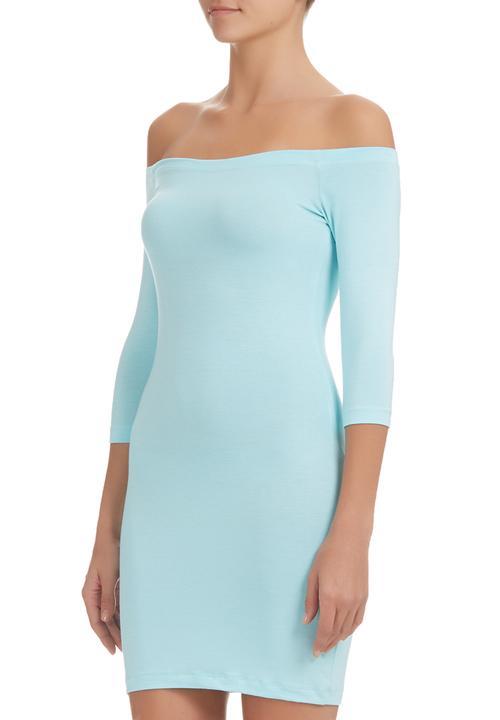 0e42cca5b6e9 Off the shoulder dress Pale Blue c(inch) Casual