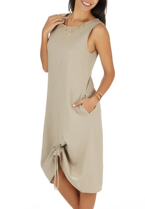 5eaf601b16e0 Linen Dress Stone/Beige edit Formal   Superbalist.com