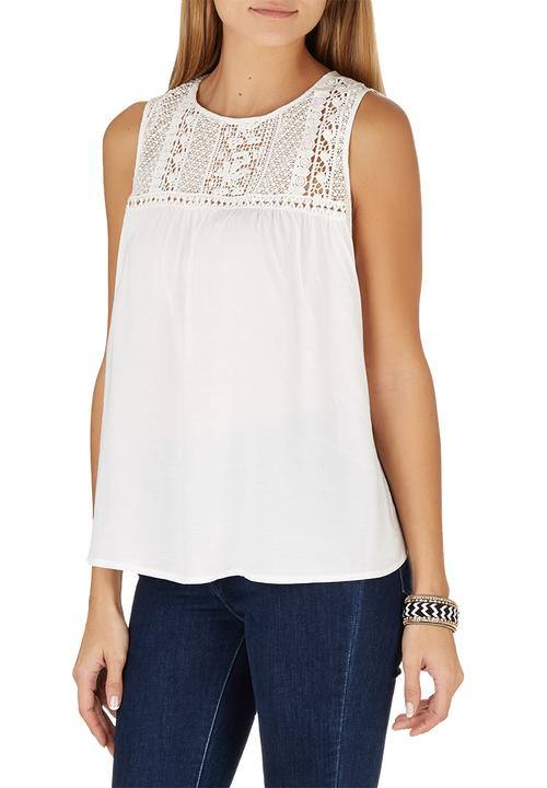 8c5274f50e1c7e Embroidered Lace Top Milk G Couture T-Shirts, Vests & Camis ...