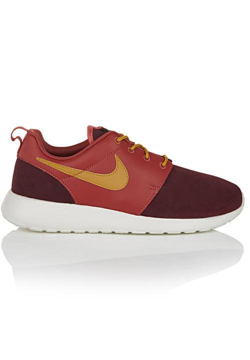 49bf04e5d7f4 Nike Roshe Run Premium Dark Red Dark Red Nike Sneakers