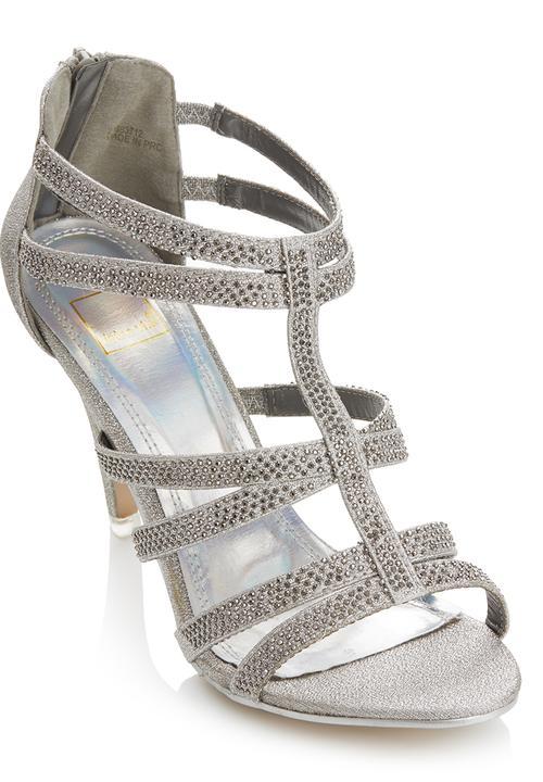 18314e895f0f Glitter Strappy Heels Silver Dolce Vita Heels