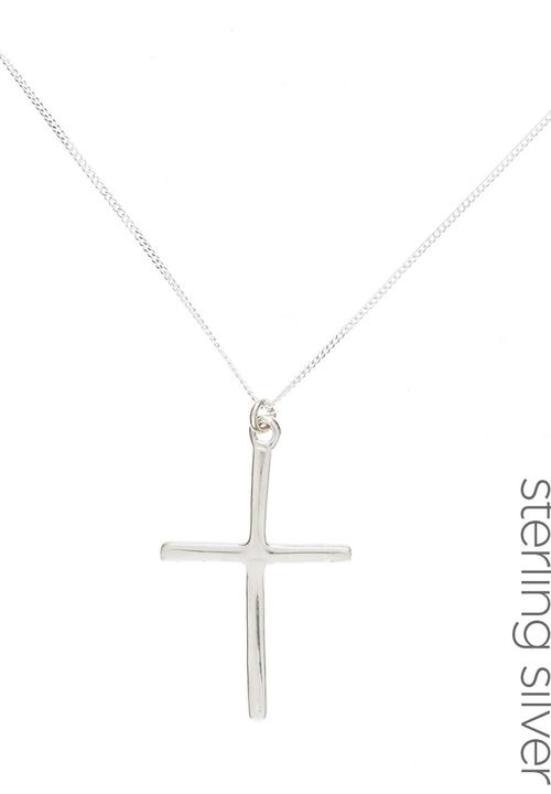 5e562ee1048b9f Sterling Silver Dainty Cross Pendant Necklace Silver STYLE REPUBLIC ...