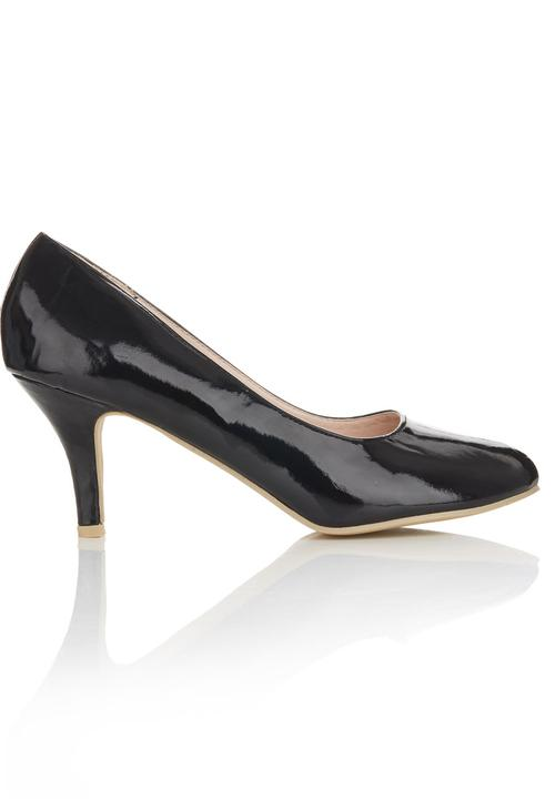 84b2008183 Round-toe Court Shoes Black Footwork Heels