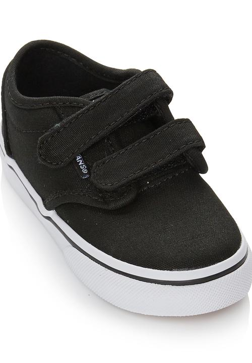 eb0be31746 Toddler Velcro Strap Sneaker Black Vans Shoes