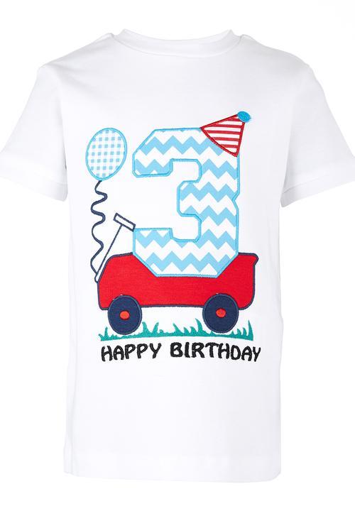 3rd Birthday T Shirt White Soobe Tops