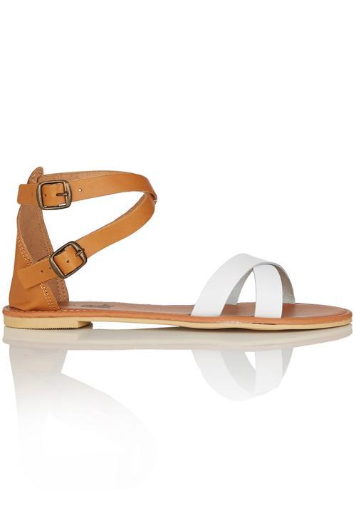 be47ef54e Leather Ankle Strap Sandals Multi-colour edit Sandals   Flip Flops ...