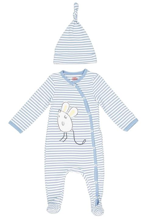 5641035be Mouse Sleepsuit and Hat Set Blue and White