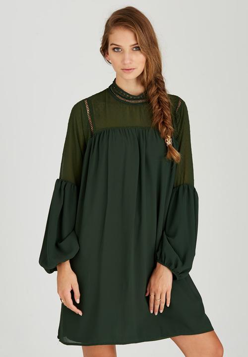 8972874192f8 Bell Sleeve Dress Green STYLE REPUBLIC Formal | Superbalist.com