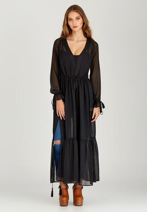 89d9d730a0c Tiered Maxi Dress Black STYLE REPUBLIC Formal