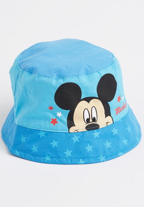 Mickey Mouse Bucket Hat Mid Blue Character Baby Accessories ... dfa5a9da89c