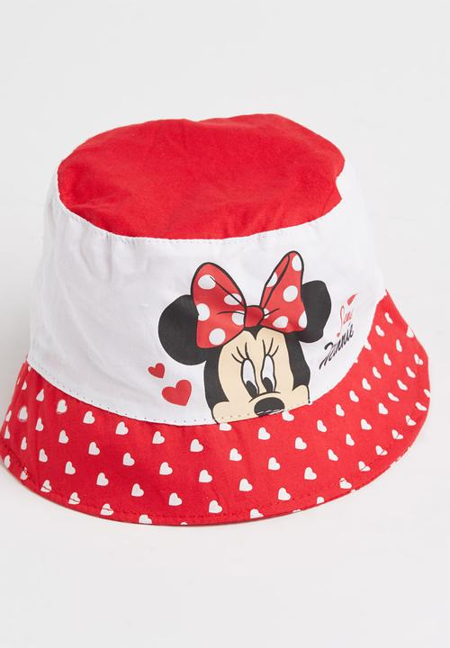 2f646b27691 Minnie Mouse Bucket Hat Red Character Baby Accessories