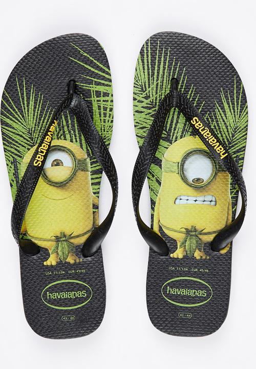 053abb6d033640 Minions Flip Flops Black Havaianas Sandals   Flip Flops ...