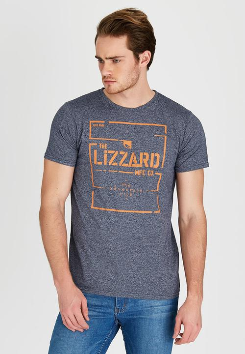 247428c1765f Nelson Short Sleeve Slim Fit T-Shirt Navy Lizzard T-Shirts & Vests ...