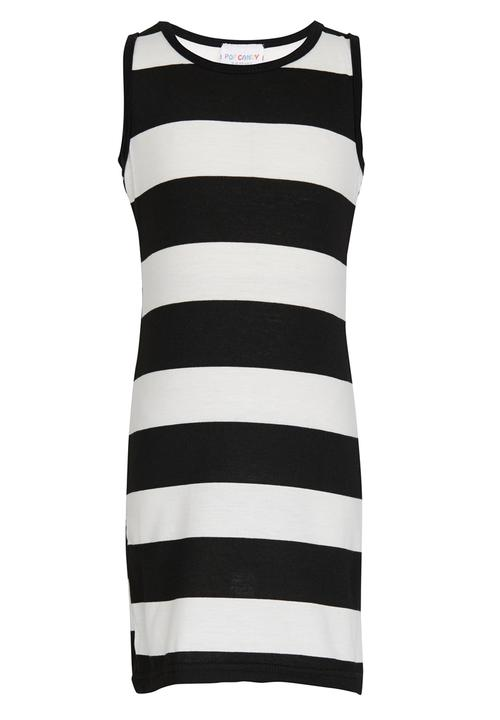 212d3a9056d90 Girls Stripe Dress Black and White POP CANDY Dresses   Skirts ...