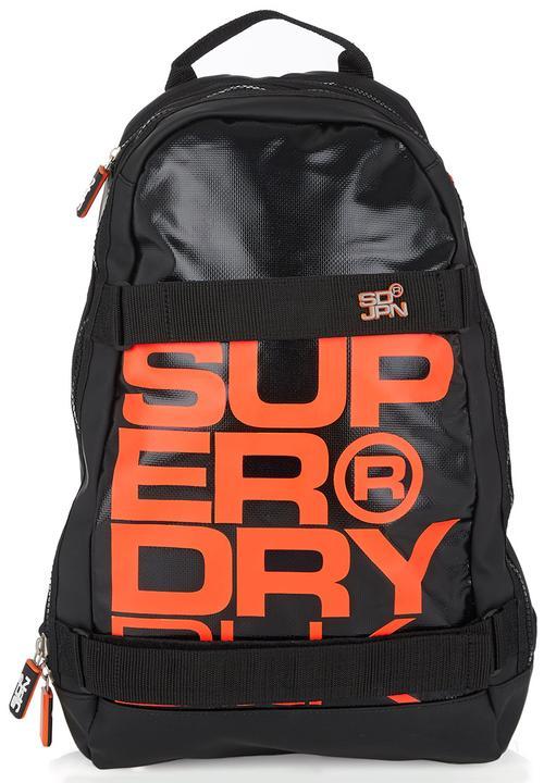 Superdry Super Black Backpack Grey
