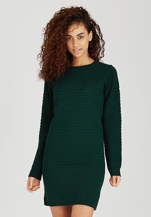 76c2e9d7fe Textured Dress Dark Green
