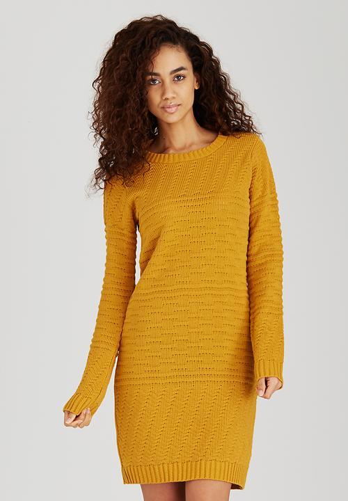 80ccfc0cf6 Textured Dress Yellow