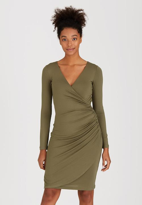 9e61564f6f Petal Wrap Dress Dark Green Marique Yssel Formal