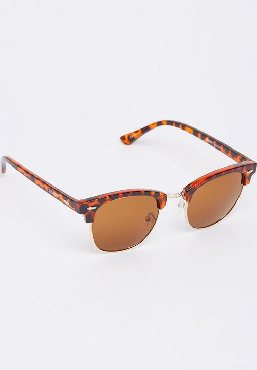 a728fc5411 Tortoise Shell Clubmaster Sunglasses Mid Brown BondiBlu Eyewear ...