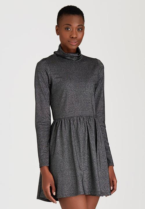 daf440c69f01 Long Sleeve Skater Dress Grey Brave Soul Casual
