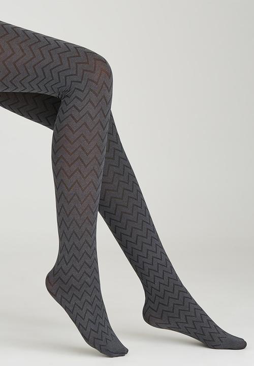 1d7b349e4b90d Herringbone Opaque Pantyhose Grey Melange Falke Stockings & Socks ...