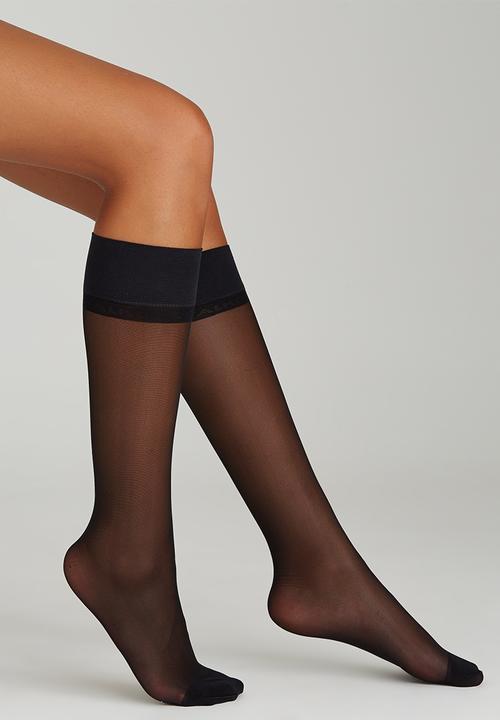 bdb6480d6 Bright Silk Knee-high Stockings Black Falke Stockings   Socks ...