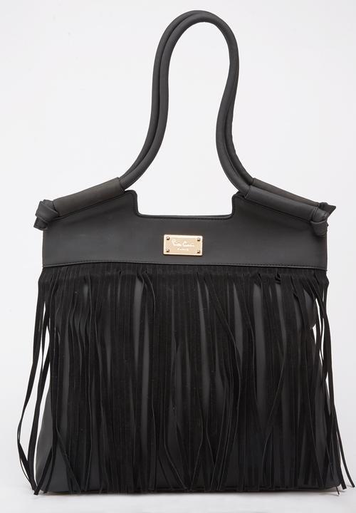 30aad46121 Fringe Tote Bag Black Pierre Cardin Bags   Purses