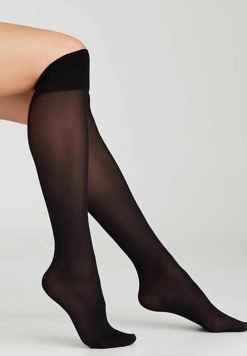 dd1c8e64f Cashmere Knee-high Stockings Black Cameo Stockings   Socks ...