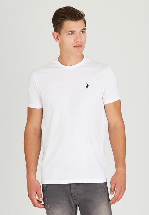 5a7a313580cc Crew neck short sleeve tee - white POLO T-Shirts   Vests ...