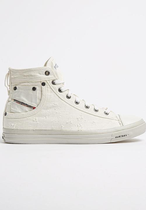 47a5a082adbb5 Diesel Exposure Sneaker White Diesel Sneakers   Superbalist.com