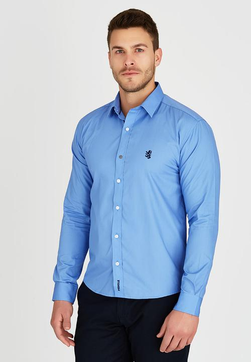 17b2805e9 Niall Styled Shirt Blue Pringle of Scotland Formal Shirts ...