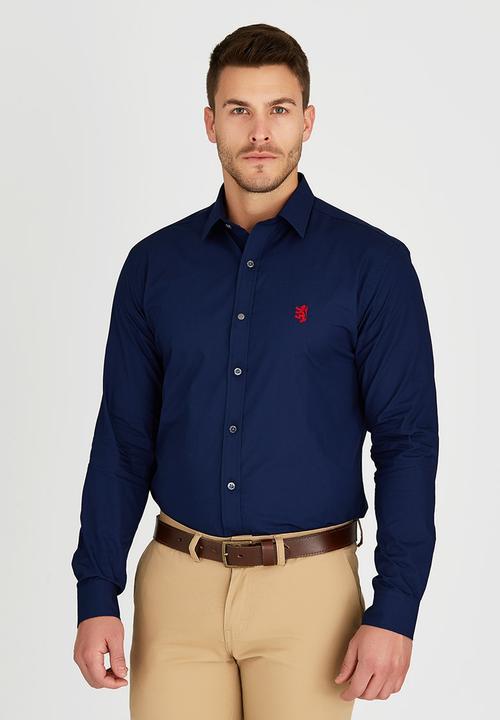 00ad3fb10 Niall Styled Shirt Navy Pringle of Scotland Formal Shirts ...