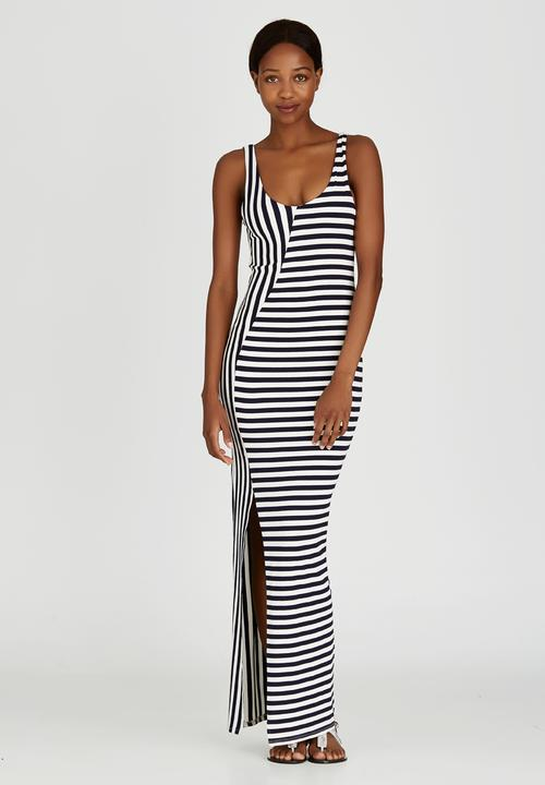 ccafffb0d Hater Striped Maxi Dress Blue and White Sissy Boy Casual ...