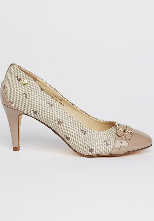 a1cc6a0f017e Contrast Toe-cap Court Heels Mid Brown POLO Heels
