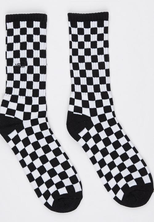 f6cc4173b54618 Checkerboard Crew Socks Black and White Vans Socks