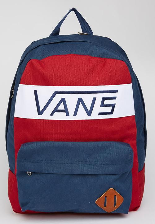 Old Skool Plus Backpack Red Vans Bags   Wallets