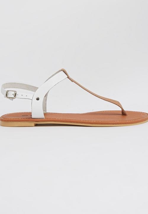aa8d9dd86a222 Leather T-bar Sandals Neutral edit Sandals   Flip Flops ...