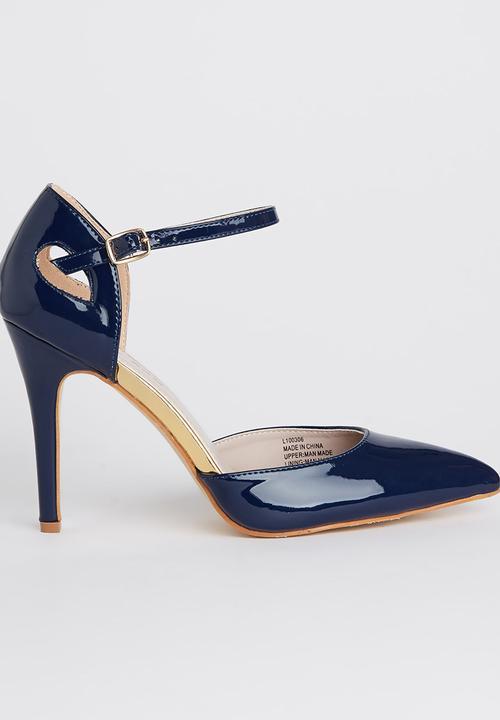 9008c2924f3 Ankle-strap Heels Navy Sissy Boy Heels
