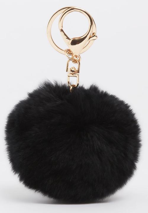 Pom-pom Keyring Black STYLE REPUBLIC Fashion Accessories ... b522a0844