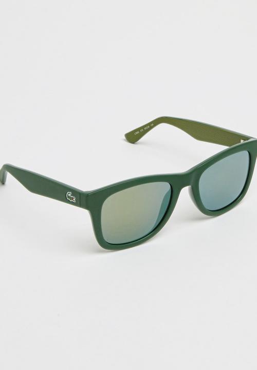 e3e4c4e5f0f Click to enlarge. Lacoste - Lacoste Wayfarer Sunglasses Dark Green