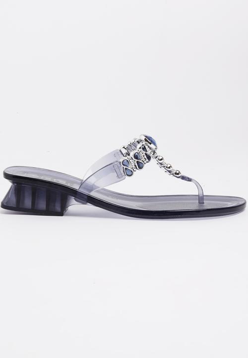3f72c83710d7ab Jelly Diamante Heels Blue Holster Heels