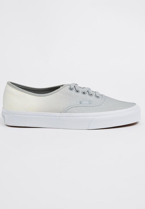 7fbb64ec13 Vans Authentic Two-tone Glitter Sneakers Silver Vans Sneakers ...