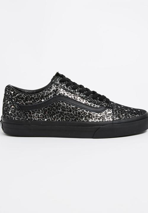 514b72de95 Vans Old Skool Metallic Leopard Sneakers Black Vans Sneakers ...