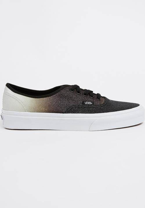 16a91cfc76 Vans Authentic Two-tone Glitter Sneakers Black and White Vans ...